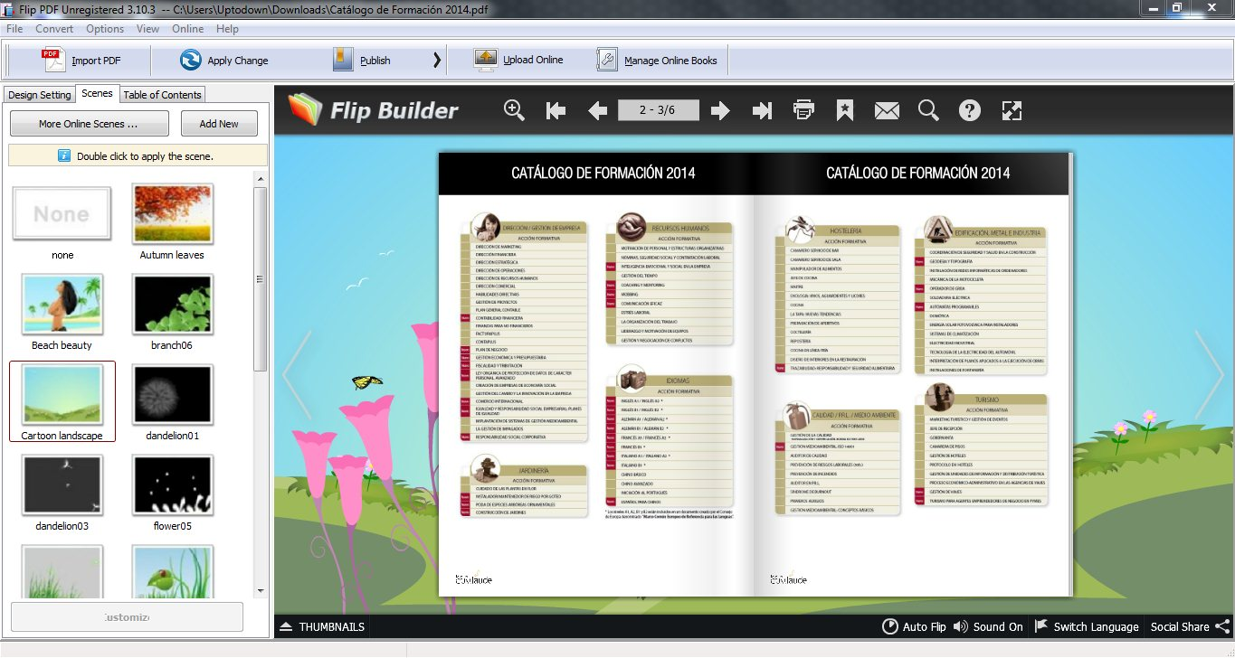Free Flash School Memory Book Maker full screenshot