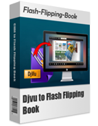 boxshot of DJVU to Flash Flipping Book