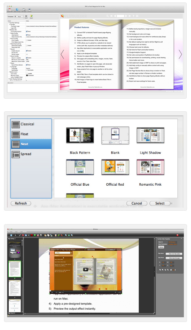 PDF to Flash Flipping Book Pro for Mac