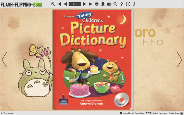 Flipping Book Themes of Cartoon Totoro screenshot