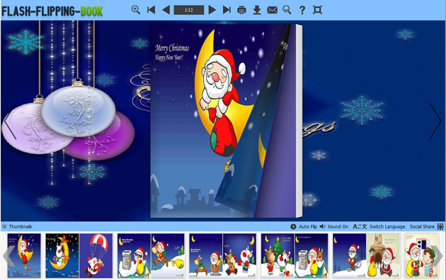 Flipping Book Themes of Christmas Style screenshot