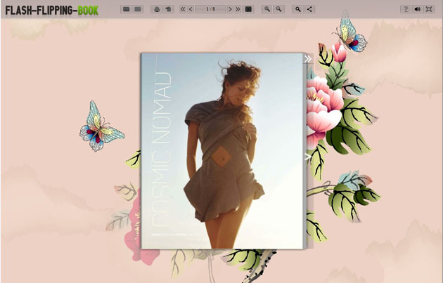html flip book template - great flipping book themes of elegance style flash