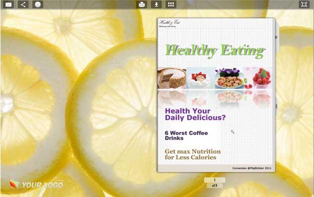 Windows 7 Flipping Book Themes Fresh Fruit Style 1.0 full