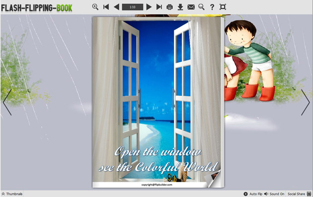 Windows 7 Flipping Book Themes of Happiness Style 1.0 full