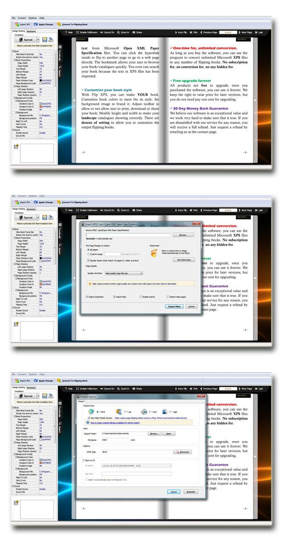 XPS to Flash Flipping Book screenshot